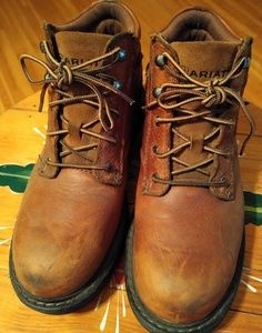 Womans Ariat leather steel toe work boots
